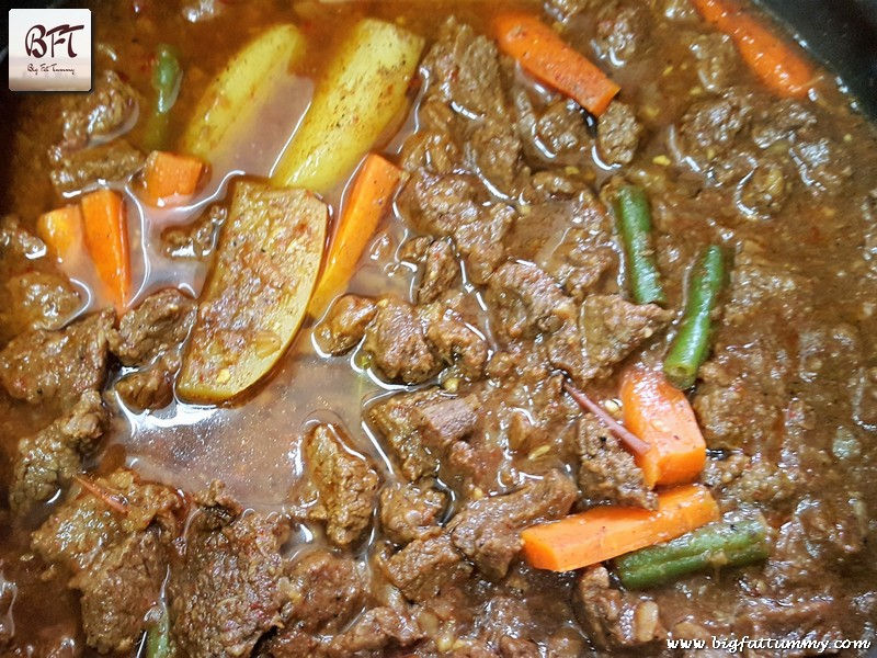 Preparation of Beef and Vegetable Curry
