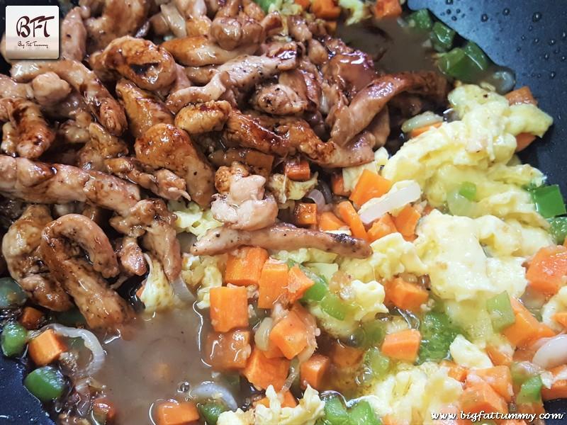 Preparation of Chicken Fried Rice