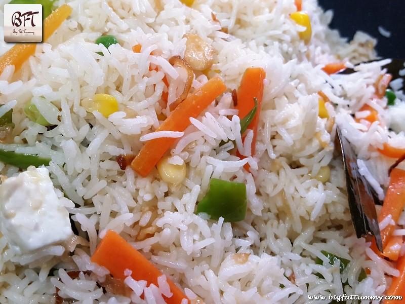 Preparation of Vegetable Pulao