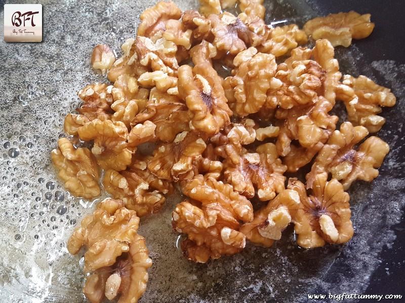 Making of Honey Glazed Walnut