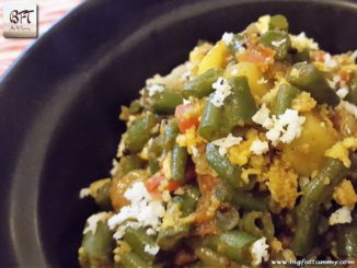French Bean Potato Bhaji