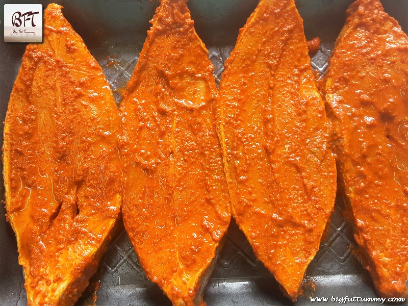 Preparation of Black Pomfret Masala Rawa Fried