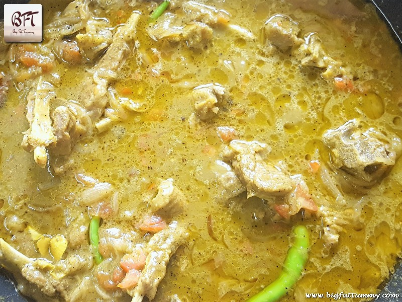 Preparation of Mutton Chop Curry