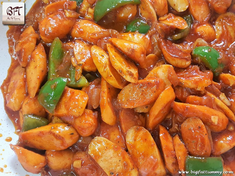 Preparation of Chicken Sausage Stir Fry
