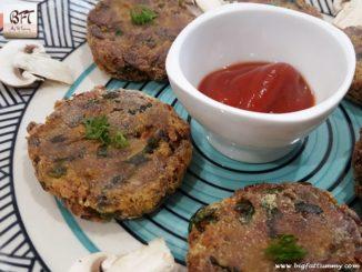 Goan Almyache Dangar / Mushroom Cutlets