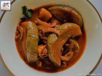 Goan Dry Shrimp Brinjal Curry
