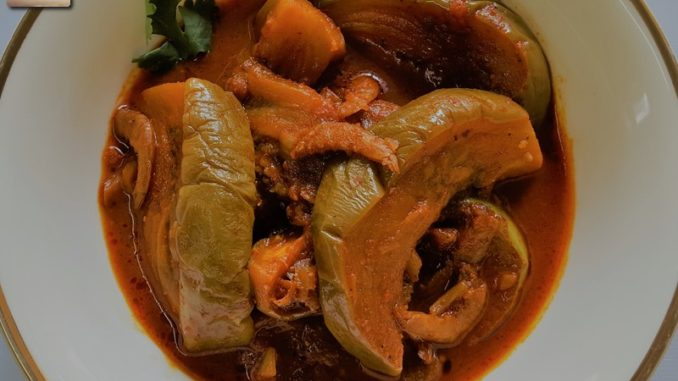 Goan Dry Shrimp Brinjal Curry