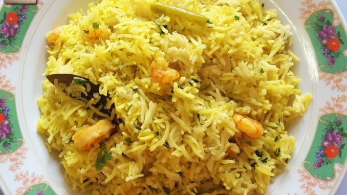 Prawn Pulao with Coconut Milk - V.2.