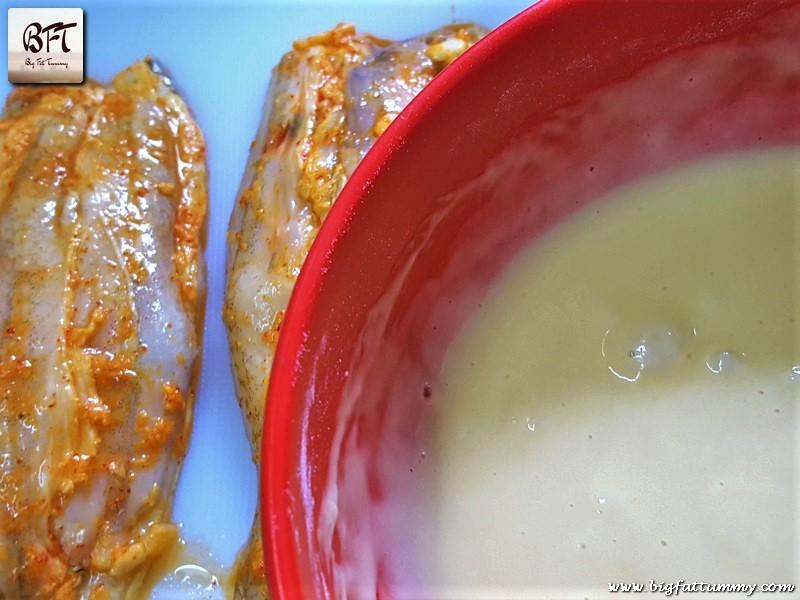 Making of Bombay Duck stuffed with Goan Prawn Recheio