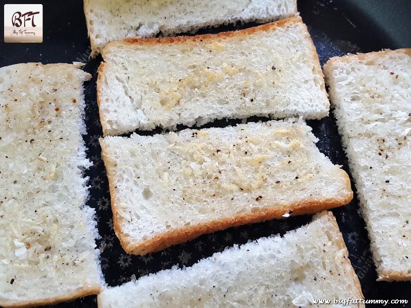 Preparation of Quick Garlic Bread
