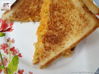 Toasted Chicken Cheese Sandwich