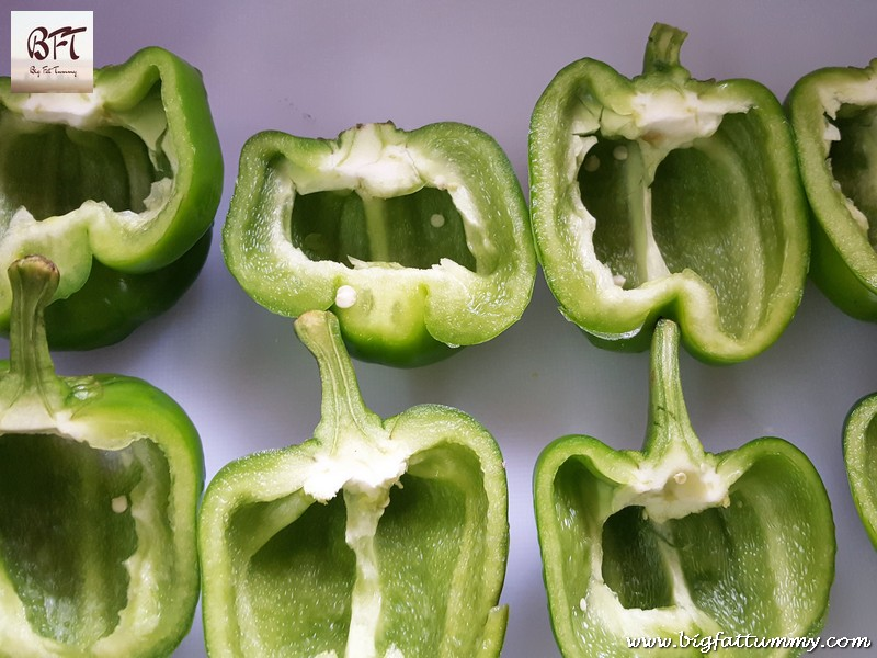 Preparation of Capsicum Stuffed with Beef Mince