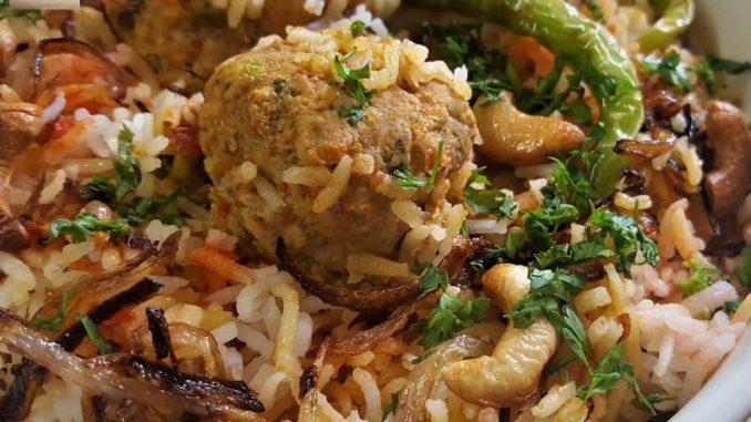 Chicken Meatball Biryani