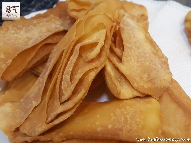 Making of Angel Wings (sweet-savoury fried pastry)