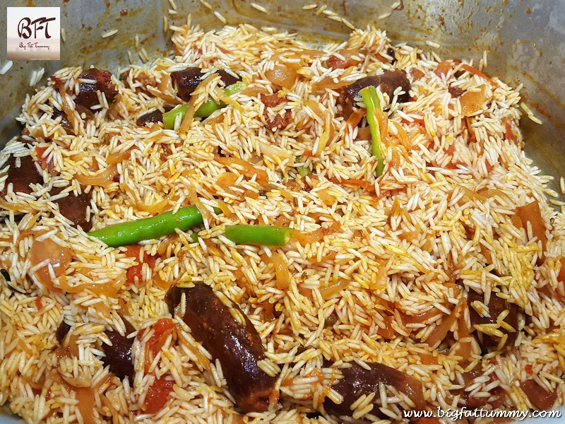 Preparation of Goan Chorizo Pulao