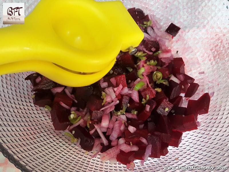 Preparation of Beetroot Salad