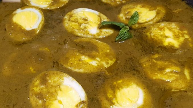 Green Egg Curry