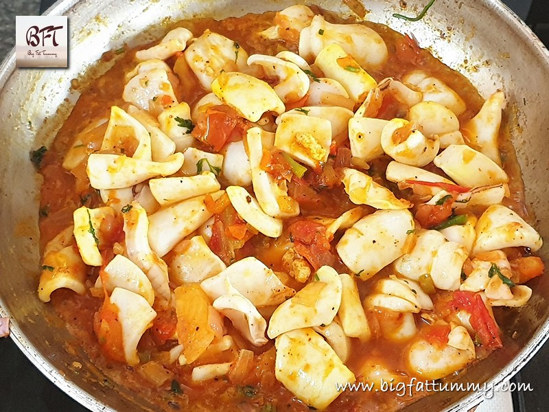 Preparation of Squid Chilly Fry
