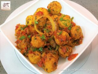 Chicken Meatball Chilly Fry