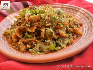 Dry Prawn Chilly Fry - with Coconut