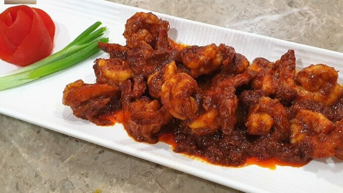 Prawns Masala Fried