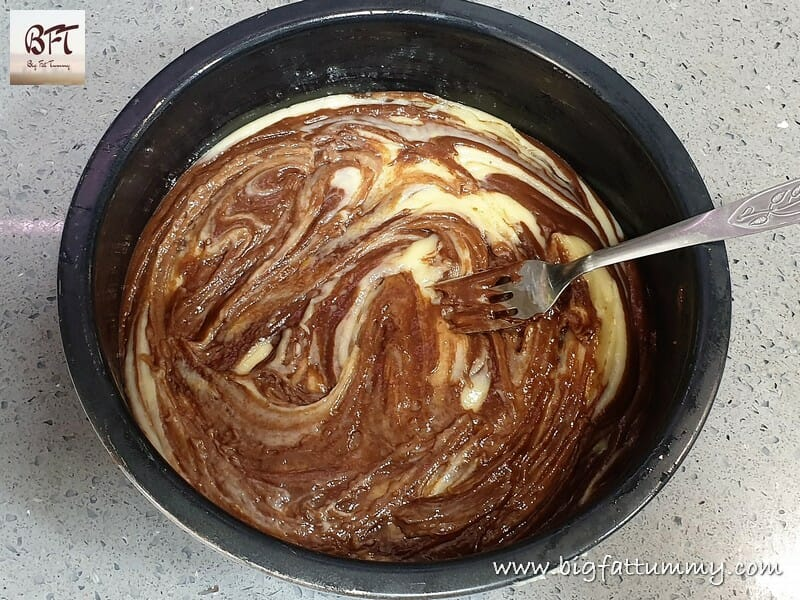 Preparation of Eggless Marble Cake